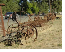 Farm implements in Windsor along Old Redwood Highway