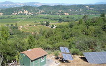 photovoltaics powering permaculture operation