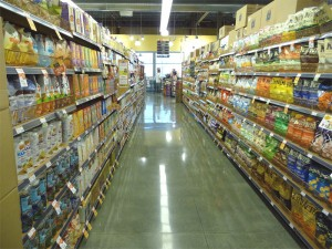 Whole Foods snack aisle