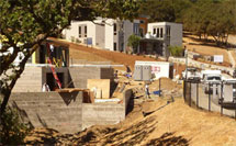 Blu Home construction in Healdsburg
